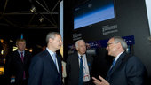 Dordain and Le Maire visit the ESA Pavilion
