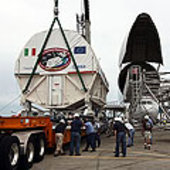 Node 3 is transported to SSPF at KSC