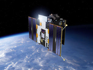 Artist's view of Proba-2 fully operational in its final orbit