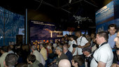 Public in the ESA Pavilion at the Paris Air Show