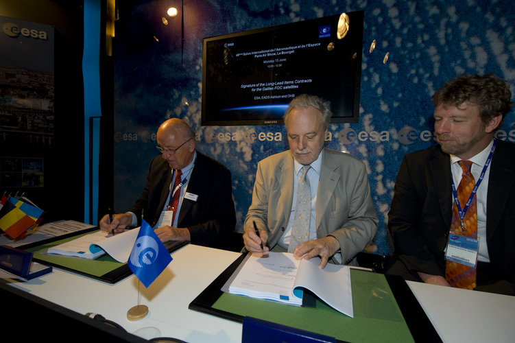 Signature of the Long-Lead Items Contracts for the Galileo FOC satellites