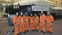 STS-128 crew during training