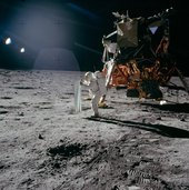 Europeans in Apollo: First flag on the Moon?