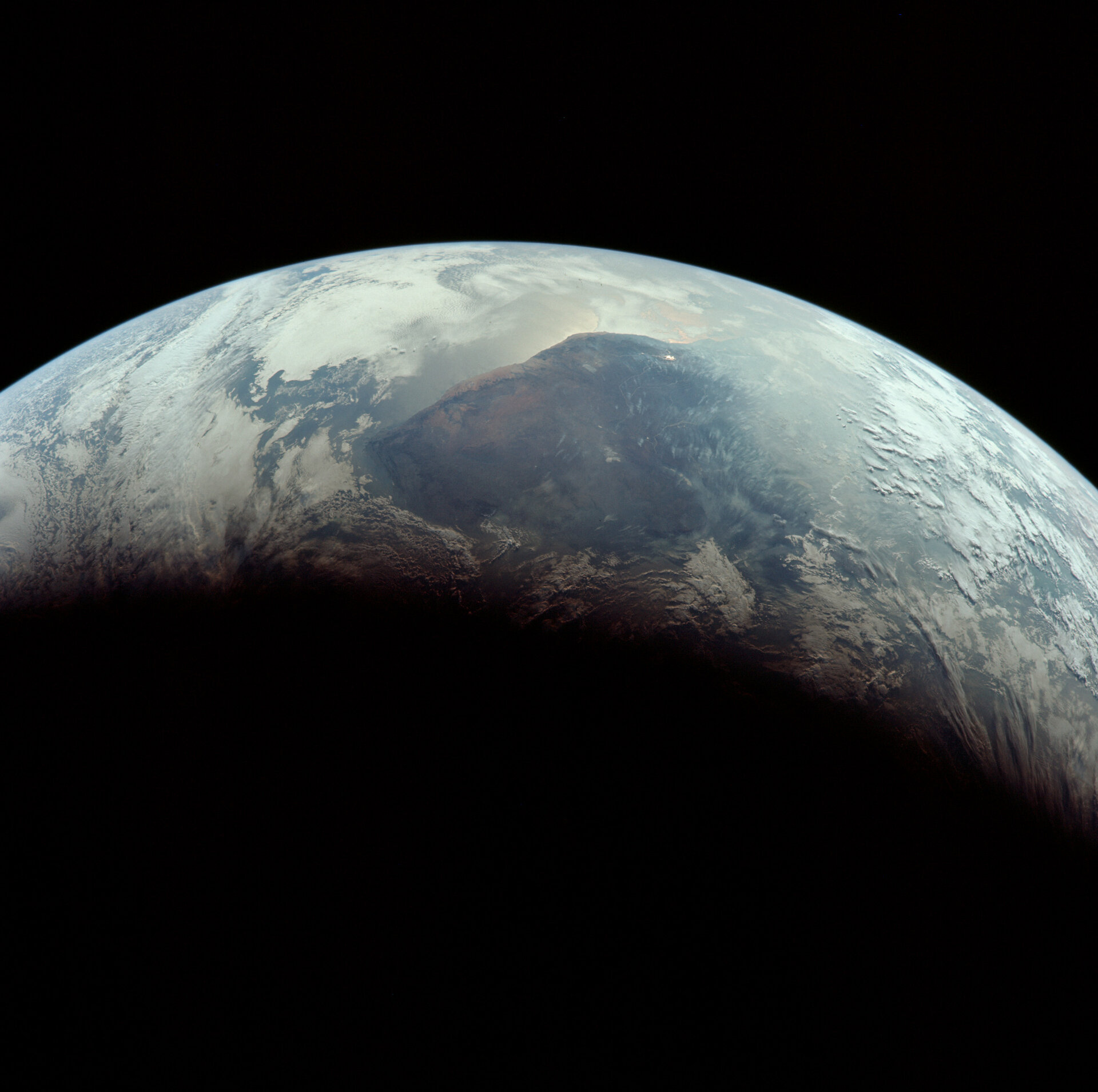 Earth seen by Apollo crew hours before reentry