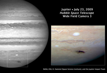 Hubble eyes new dark spot on Jupiter