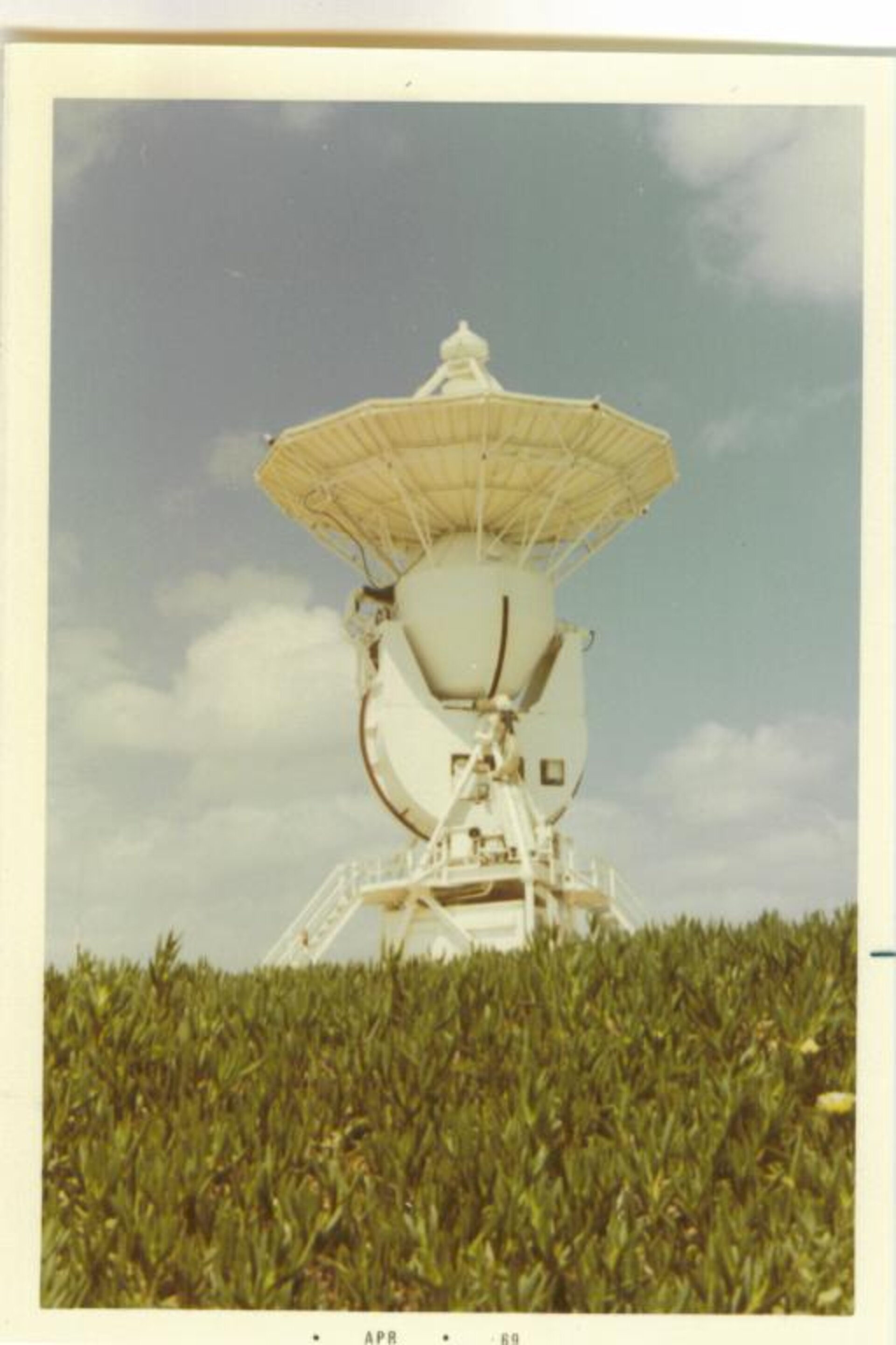 Maspalomas MSFN USB antenna for Apollo communications in 1969