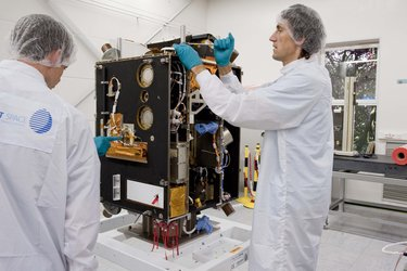 Proba-2 in the cleanroom at Verhaert Space shortly before shipment to the launch site