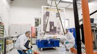 Proba-2 is getting ready for shipment from Kruibeke/Belgium to P