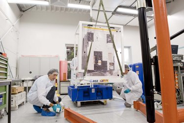Proba-2 is getting ready for shipment from Kruibeke/Belgium to Plesetsk (Russia)