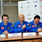 Press conference after completion 105-day Mars500 study