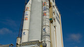 Ariane 5 flight V190 is readied for lift-off