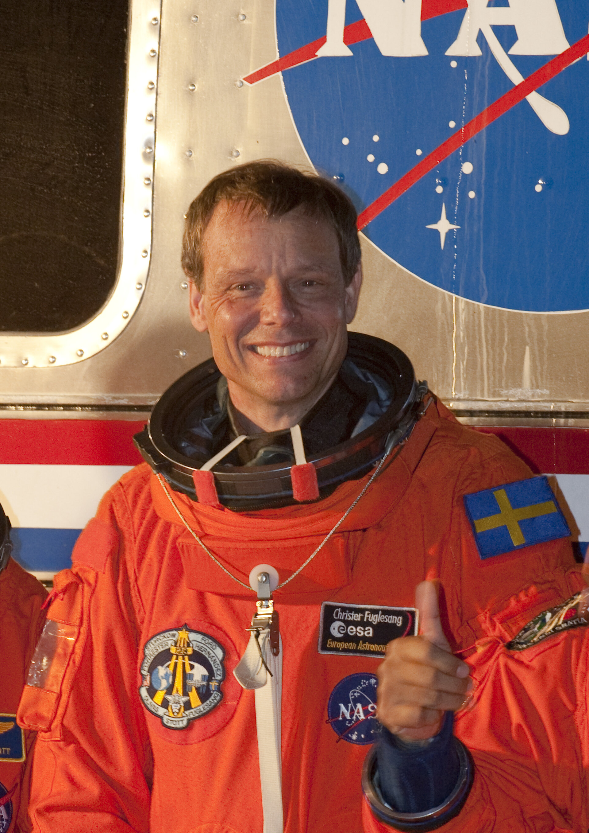 Christer Fuglesang and the STS-128 mission crew during walkout