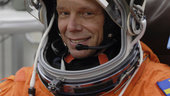Fuglesang suits up for STS-128 launch