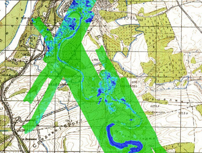 Space in Images - 2009 - 08 - Danube river: soil moisture map on