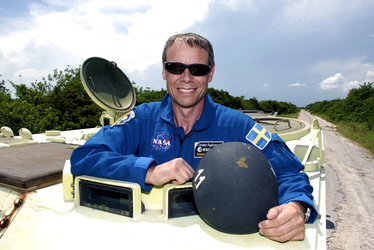 ESA astronaut Christer Fuglesang during final preflight training at Kennedy Space Center