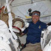 Fuglesang during STS-128 mission