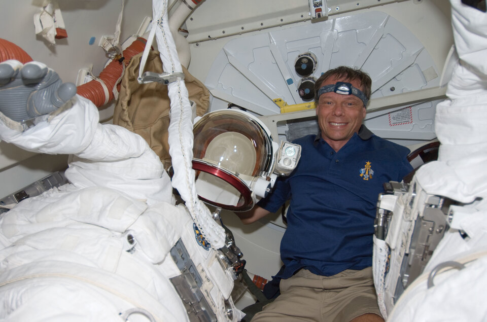 ESA astronaut Christer Fuglesang during STS-128 mission