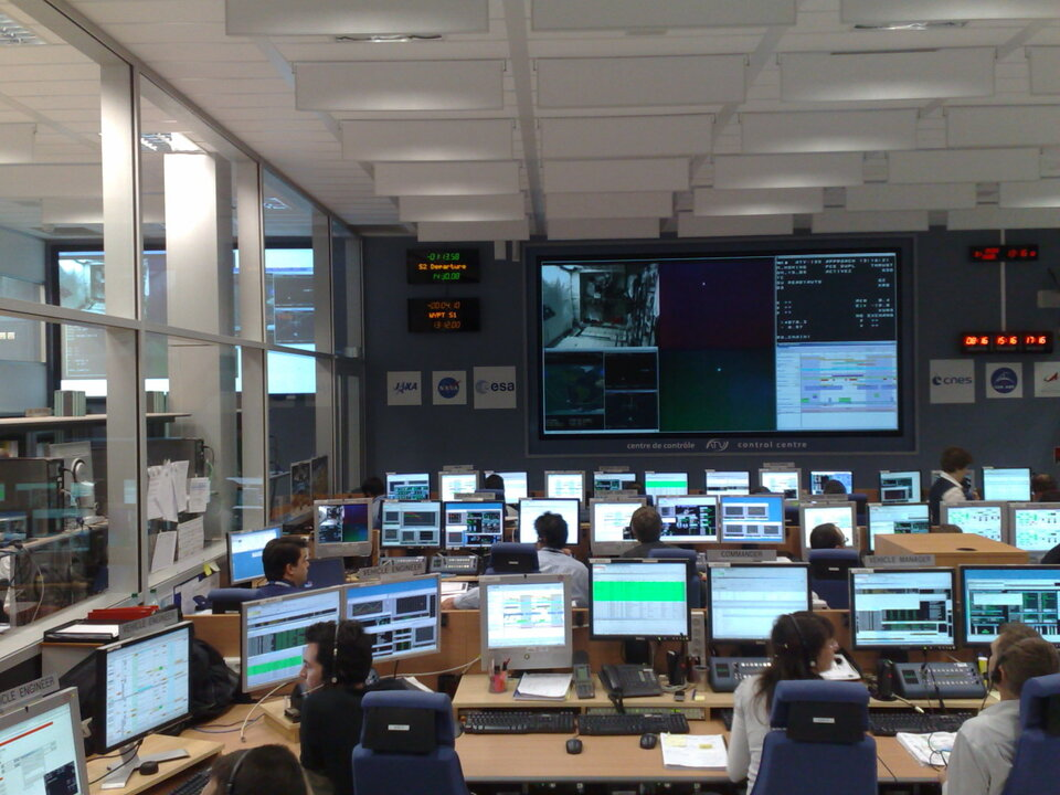ESA's ATV Control Centre, Toulouse, during Demonstration Day 2