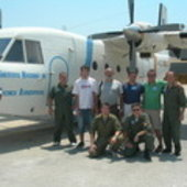INTA aircraft and crew