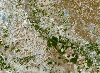 Plains and agricultural fields in central Spain