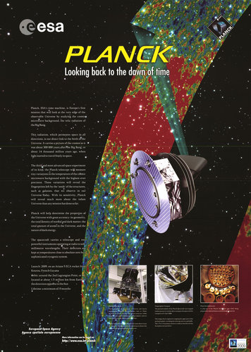 Planck looks back to the dawn of time 2009