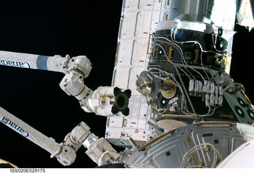 Pressurized Mating Adapter-3 was relocated using Canadarm2
