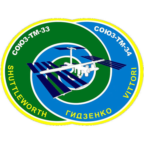 Soyuz TM-34 flight patch, 2002