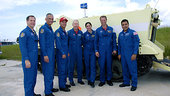 STS-128 crew at KSC