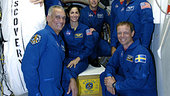 STS-128 crew at KSC for TCDT
