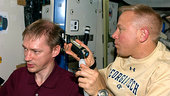 A haricut for ESA astronaut Frank De Winne