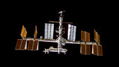 View of the ISS before docking of flight STS-128