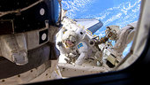 Fuglesang during second STS-128 spacewalk