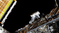 Christer Fuglesang participates in third STS-128 spacewalk