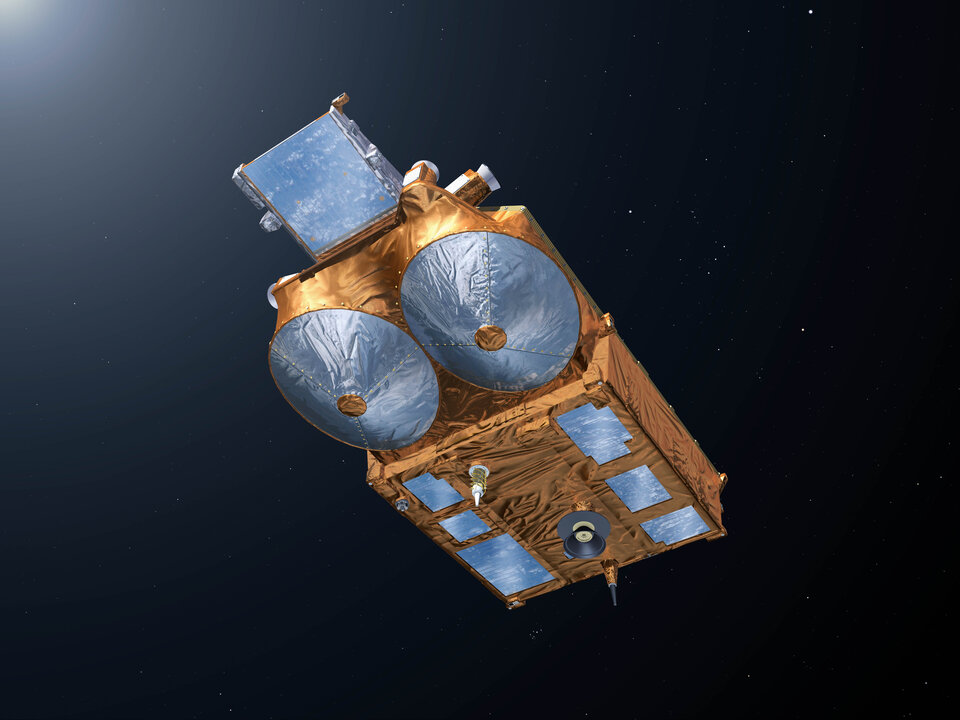Cryosat's twin antennas