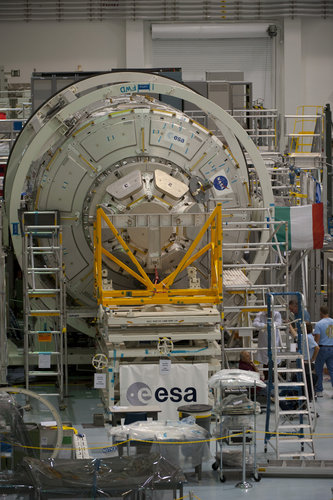 Cupola mated to the Tranquility node in NASA's Space Station Processing Facility