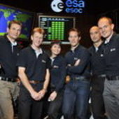 ESA's candidate astronauts at ESOC, Darmstadt, Germany