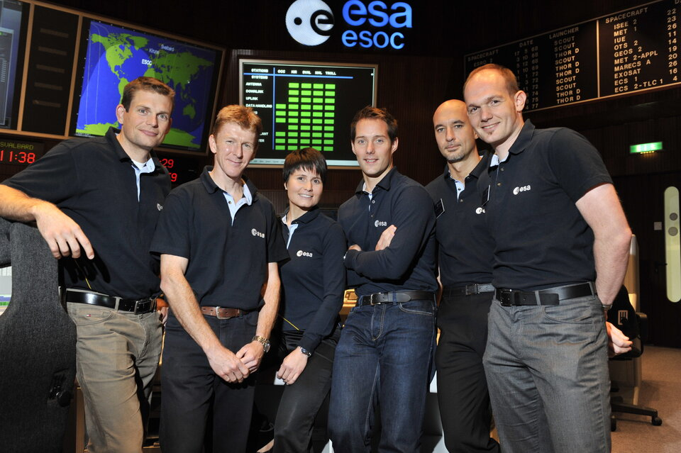 ESA's candidate astronauts at ESOC