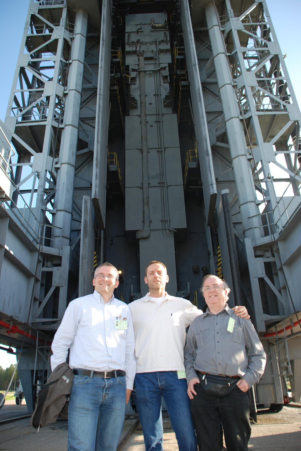 ESA team at the launch pad