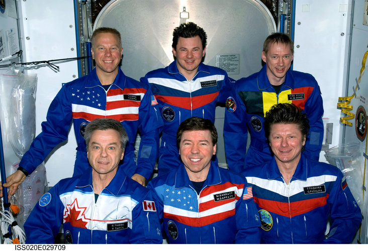 Expedition 20 crew portrait in the Harmony module