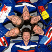 Expedition 20 inflight portrait