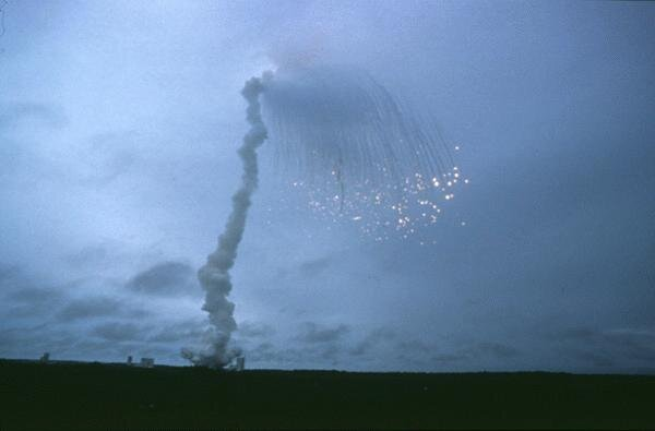 Explosion of first Ariane 5 flight, June 4, 1996