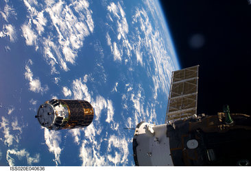HTV approaches the International Space Station