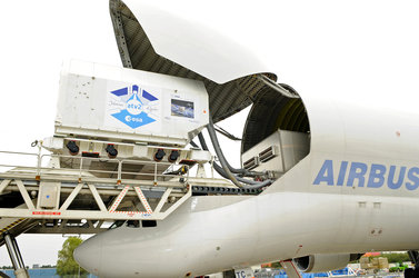 Integrated Cargo Carrier for ATV Johannes Kepler arrives in Bremen
