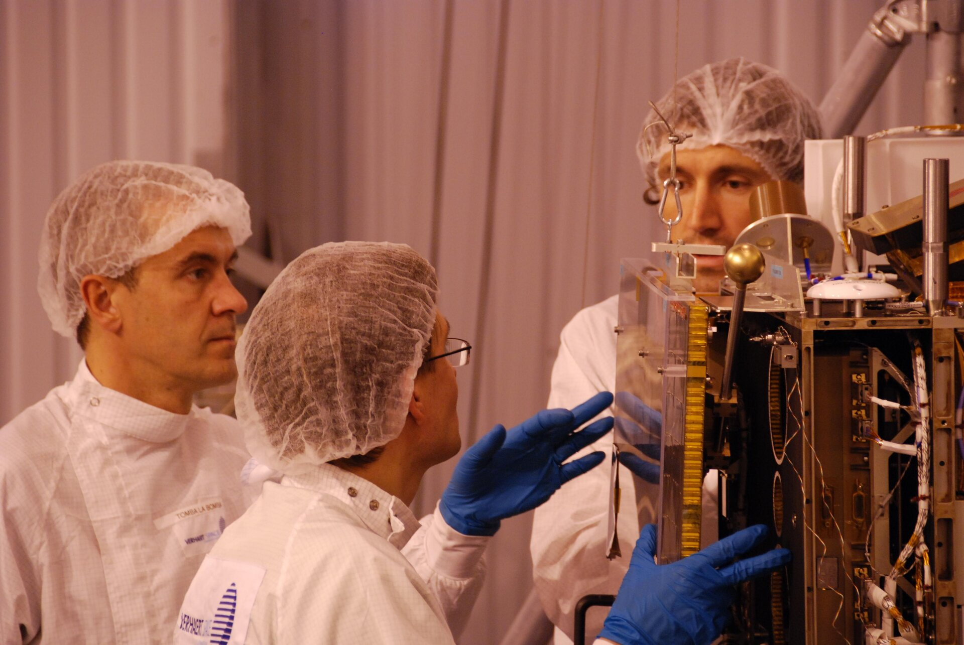 Mounting of the first deployable solar panel