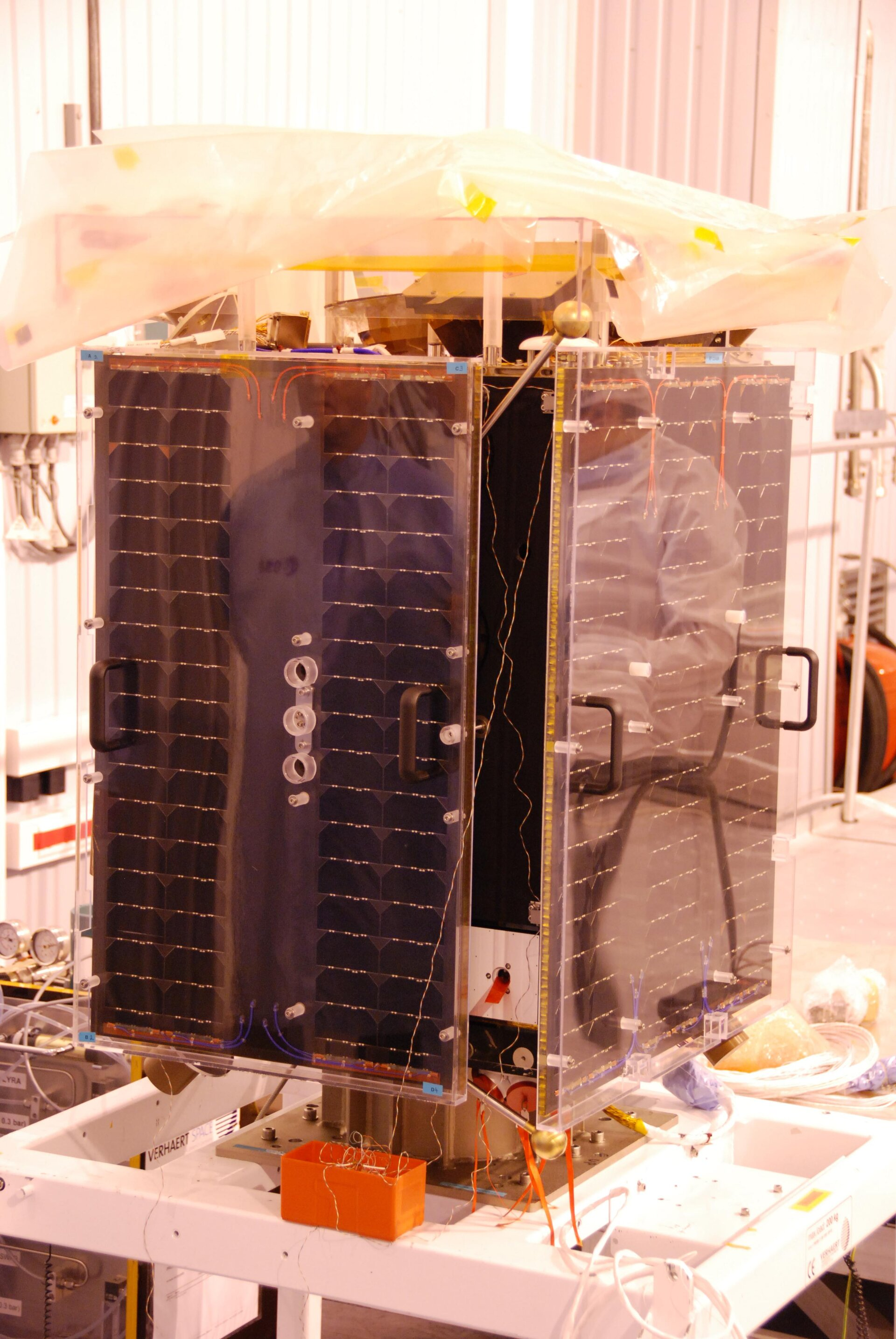 Proba-2 with solar panels mounted