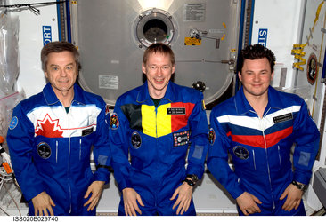Soyuz TMA-15 crew in space