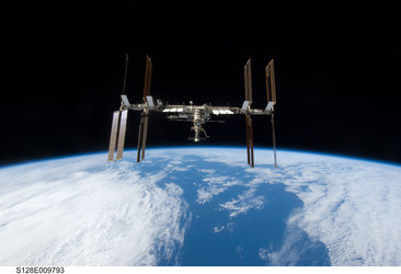 The International Space Station seen from Space Shuttle Discovery