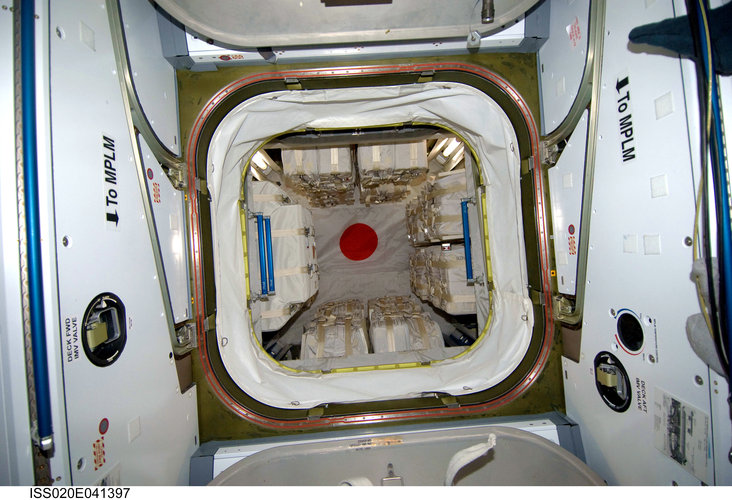 View of the interior of the Japanese H-II Transfer Vehicle