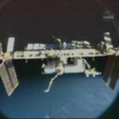 View of the ISS after undocking STS-128