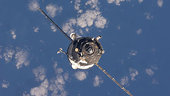 Progress 35 approaches ISS for docking